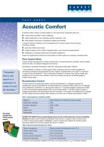 Acoustic Fact Sheet