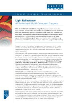 Light Reflectance of Multi-Coloured Carpets
